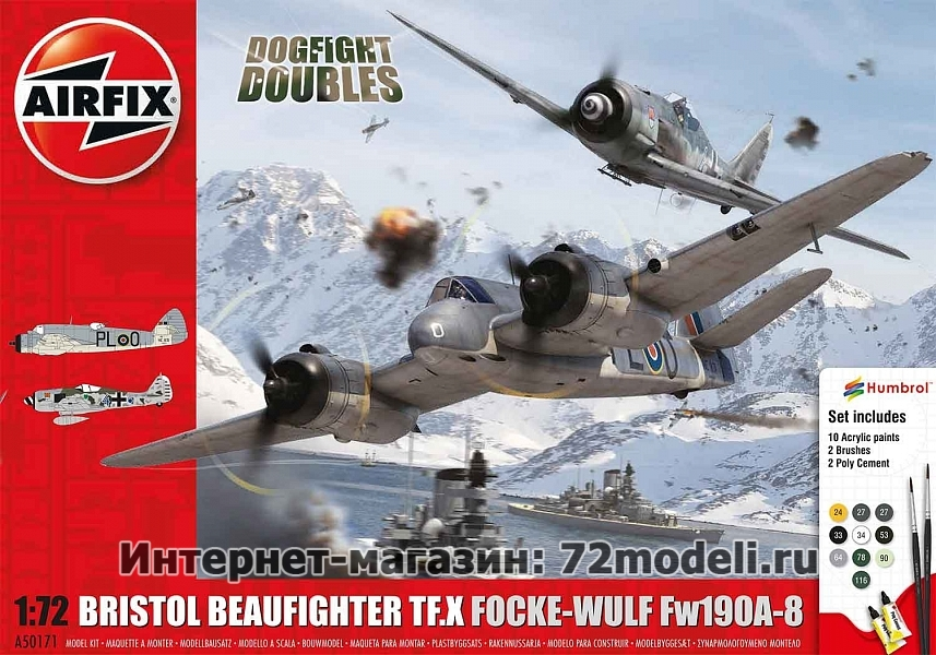 Bristol Beaufighter TF.X Focke-Wulf Fw190A-8 Dogfight Doubles